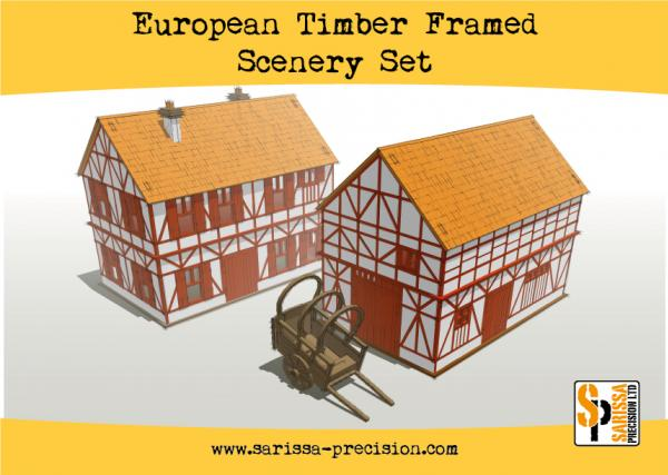 Warlord Games: European Timber Frame Scenery Set