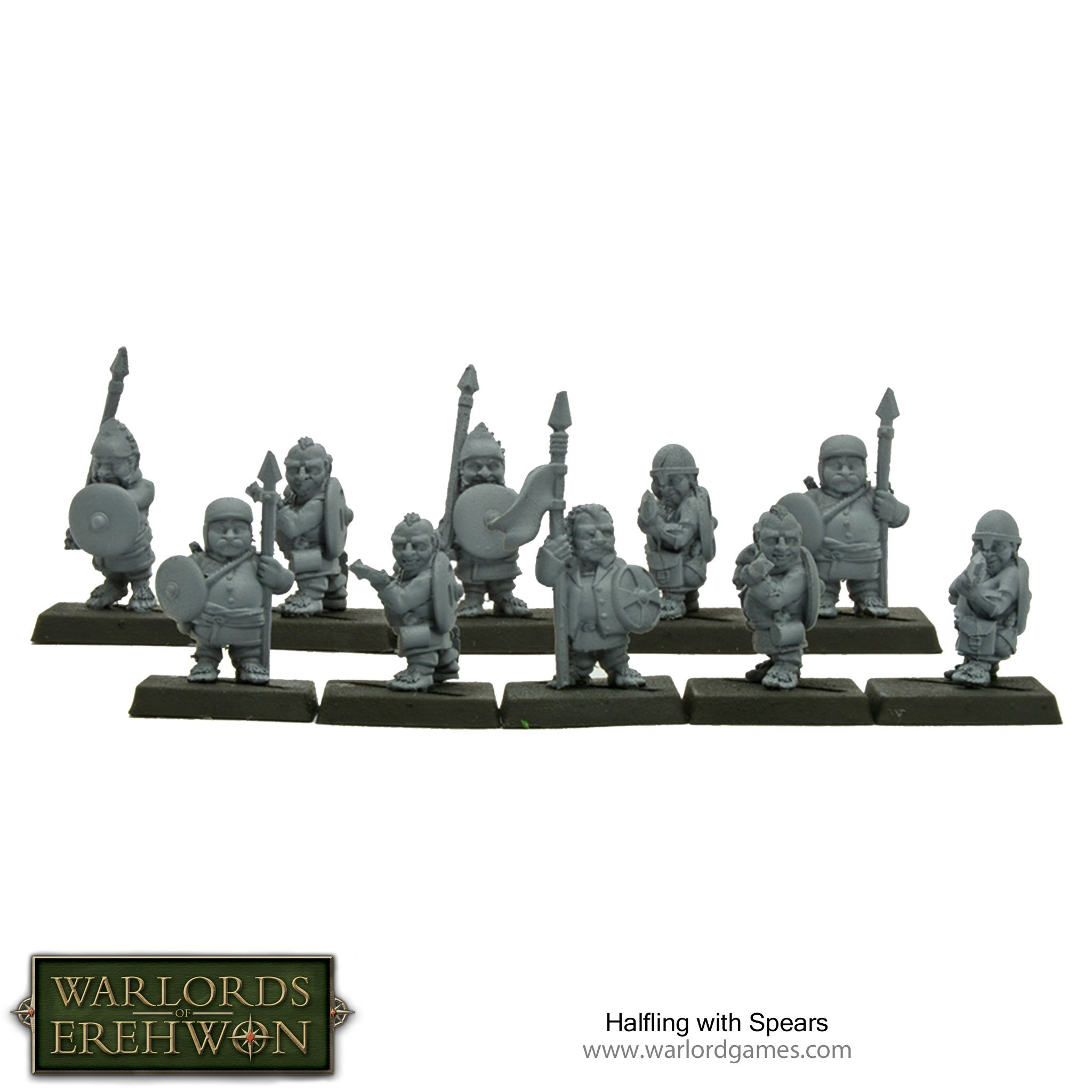 Warlords of Erehwon: Halflings with Spears