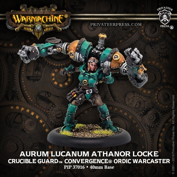 Warmachine: Golden Crucible (37016): Aurum Lucanum Athanor Locke