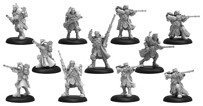 Warmachine: Cygnar (31133): Trencher Long Gunners Attachment Box