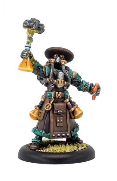 Warmachine: Golden Crucible (37002): Aurum Adeptus Syvestro – Crucible Guard Warcaster