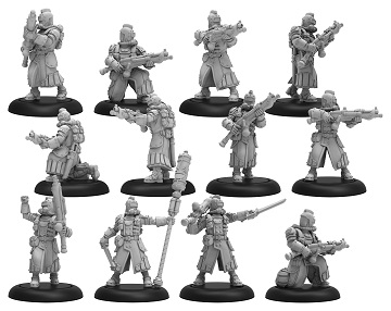 Warmachine: Golden Crucible (37004): Crucible Guard Infantry and Command Attachment