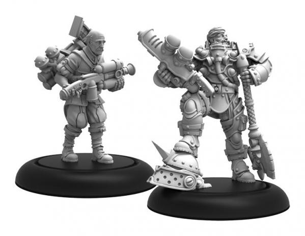 Warmachine: Golden Crucible (37015): Marshal General Baldwin Gearheart & Mr. Clogg