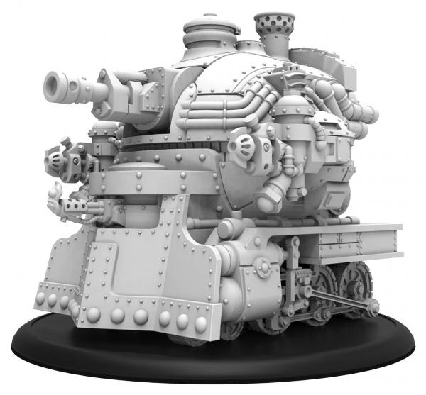 Warmachine: Golden Crucible (37018): Railless Interceptor – Crucible Guard Battle Engine