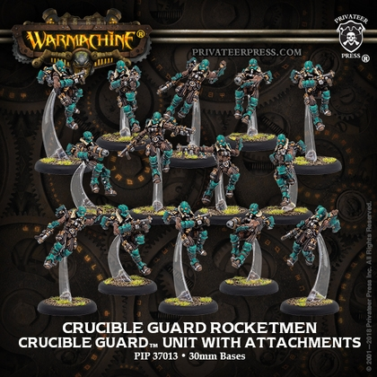 Warmachine: Golden Crucible (37013): Crucible Guard Rocketmen Unit