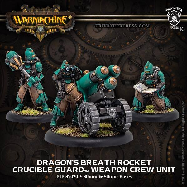 Warmachine: Golden Crucible (37020): Dragons Breath Rocket Weapon Crew