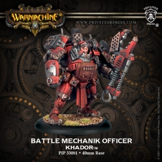 Warmachine: Khador (33081): Battle Mechanik Officer