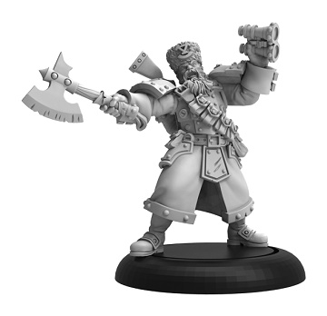 Warmachine: Khador (33123): WINTER GUARD ARTILLERY KAPTAIN