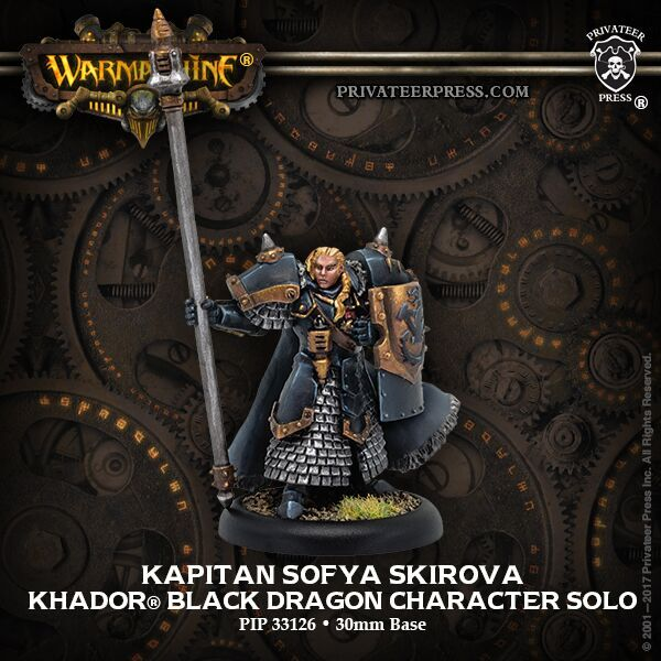 Warmachine: Khador (33126): Kapitan Sofia Black Dragon
