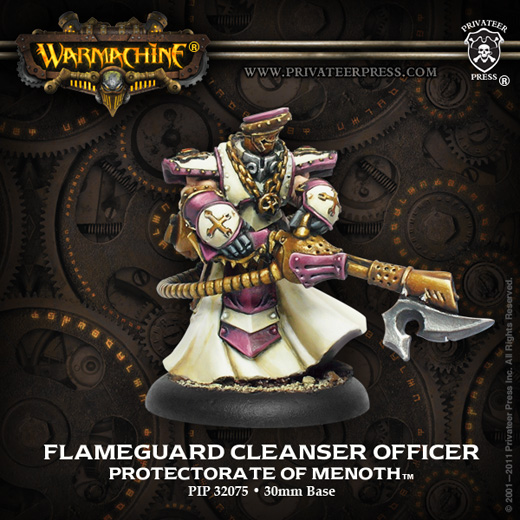 Warmachine: Menoth (32075): Flameguard Cleansers Officer