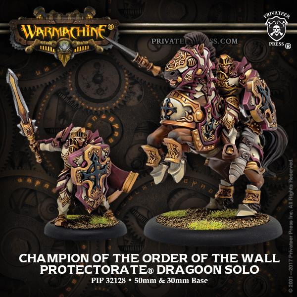 Warmachine: Menoth (32128): Champion of the Order of the Wall Dragoon