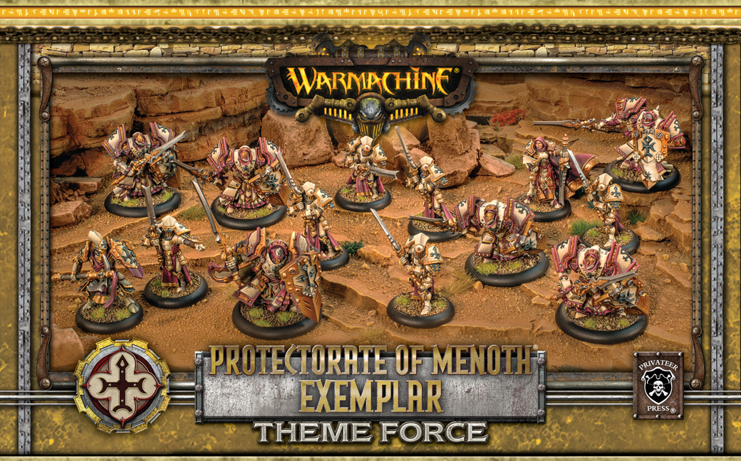 Warmachine: Menoth (32133): Exemplar Knight Theme Box