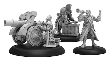 Warmachine: Mercenaries (41154): Steelhead Cannon Crew -Unit (3)