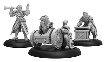 Warmachine: Mercenary (41155): Steelhead Mortar Crew -Unit (3)