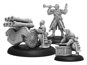 Warmachine: Mercenary (41157): Steelhead Volley Gun Crew -Unit (3)