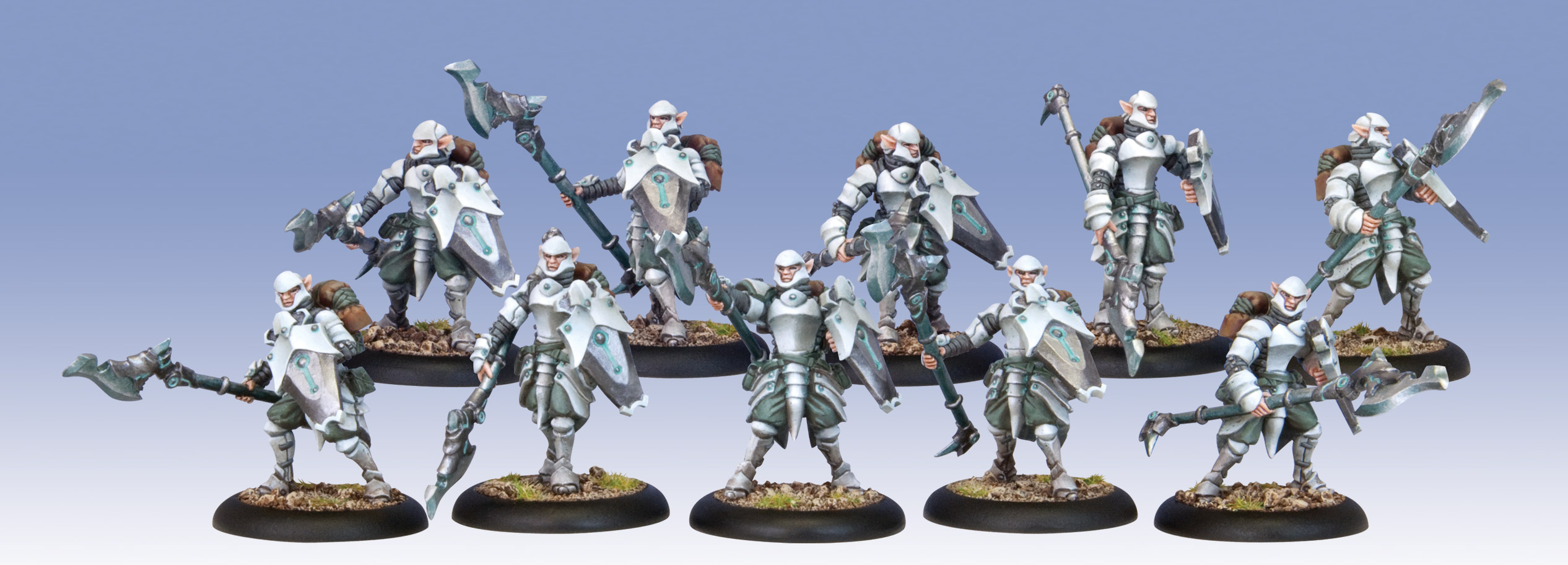 Warmachine: Retribution Of Scyrah (35010): Houseguard Halberdier Unit