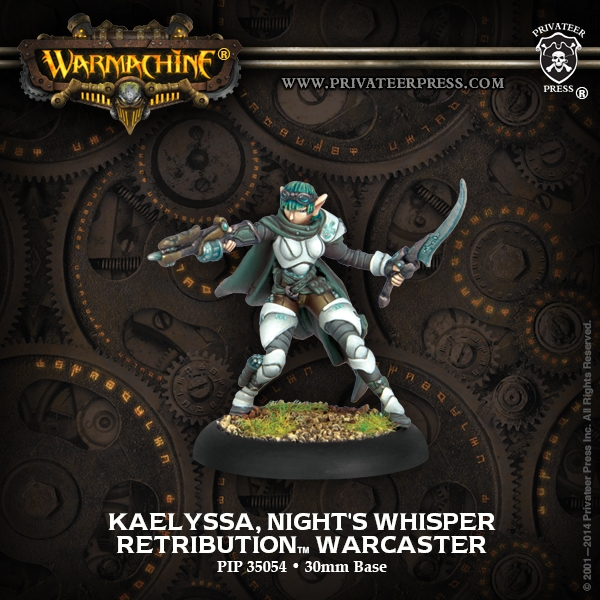 Warmachine: Retribution Of Scyrah (35054): Kaelyssa, Nights Whisper (Resculpt)