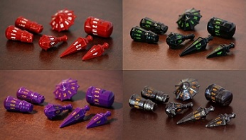 Warrior Dice Set: Vorpal Purple with Amber