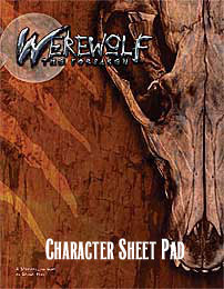 Werewolf the Forsaken: Character Sheet Pad