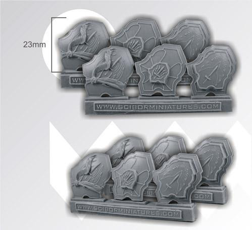 Scibor Monstrous Miniatures: Wings Shields (6)
