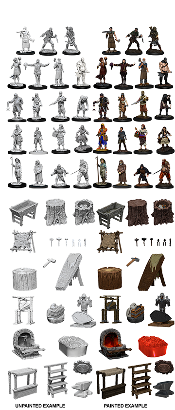 WizKids Deep Cuts: Townspeople & Accessories