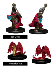 Wizkids Painted Minis: BOY CLERIC & WINGED SNAKE