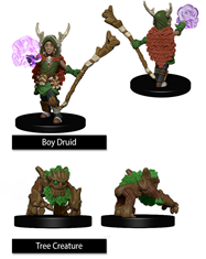 Wizkids Painted Minis: BOY DRUID & TREE CREATURE
