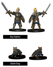 Wizkids Painted Minis: BOY FIGHTER & BATTLE DOG