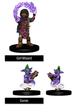 Wizkids Painted Minis: GIRL WIZARD & GENIE