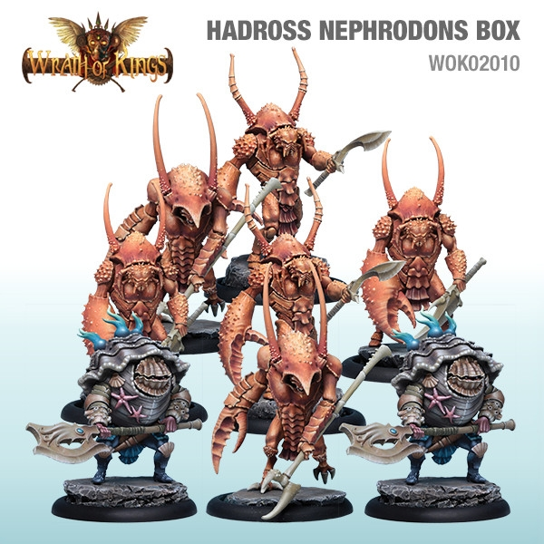 Wrath of Kings House of Hadross: Deepmen Nephrodons