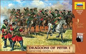 Zvezda Historical 1/72 Scale: Dragoons of Peter the Great