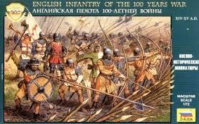 Zvezda Historical 1/72 Scale: English Infantry Of The 100 Years War