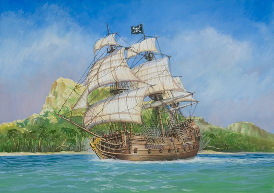 "Zvezda Historical 1/72 Scale: PIRATE SHIP ""BLACK SWAN"""