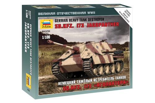 Zvezda Military 1/100 Scale: Snap Kit: German Heavy Tank Destroyer Sd.Kfz.173 Jagdpanther
