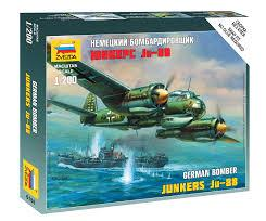 Zvezda Military 1/200 Scale: German Bomber Junkers Ju-88