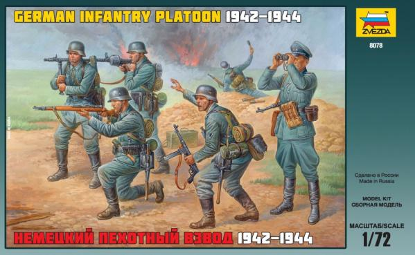 Zvezda Military 1/72 Scale: German Infantry Platoon 1942-1944