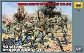 Zvezda Military 1/72 Scale: Russian Infantry Of WWI