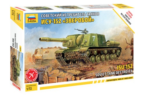 Zvezda Military 1/72 Scale: Snap Kit: ISU-152 Soviet Tank Destroyer