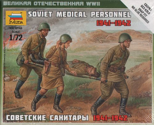Zvezda Military 1/72 Scale: Soviet Medical Personnel 1941-42