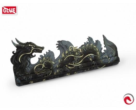 e-Raptor Games: Card Holder- L Dragon FullPrint Gray