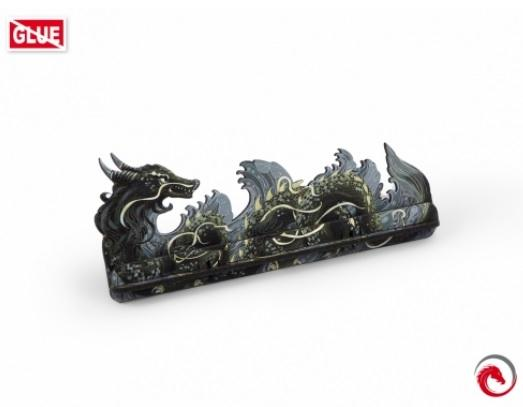 e-Raptor Games: Card Holder- S Dragon FullPrint Gray