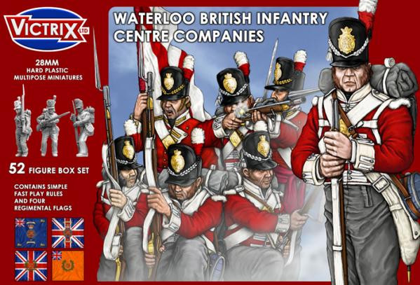 Victrix 28mm: Waterloo British Infantry Centre Companies