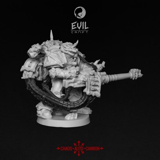 Evil Craft - Evil Craft: Miniatures: Chaos Autocannon Gunner