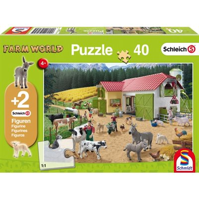 Schmidt Spiele Puzzle: A Day at the Farm (40)