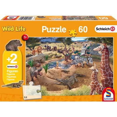 Schmidt Spiele Puzzle: At the Watering Hole (60)