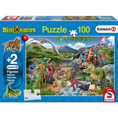 Schmidt Spiele Puzzle: Kingdom of the Dinosaurs (100)