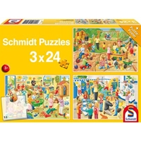 Schmidt Spiele Puzzle: A Day at Playschool (3x24)
