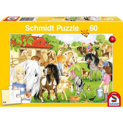 Schmidt Spiele Puzzle: Fun at the Riding Stables (60)