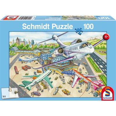 Schmidt Spiele Puzzle: A Day at the Airport (100)
