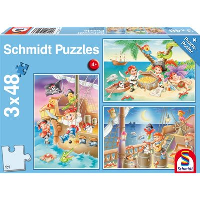 Schmidt Spiele Puzzle: Gang of Pirates (3x48)